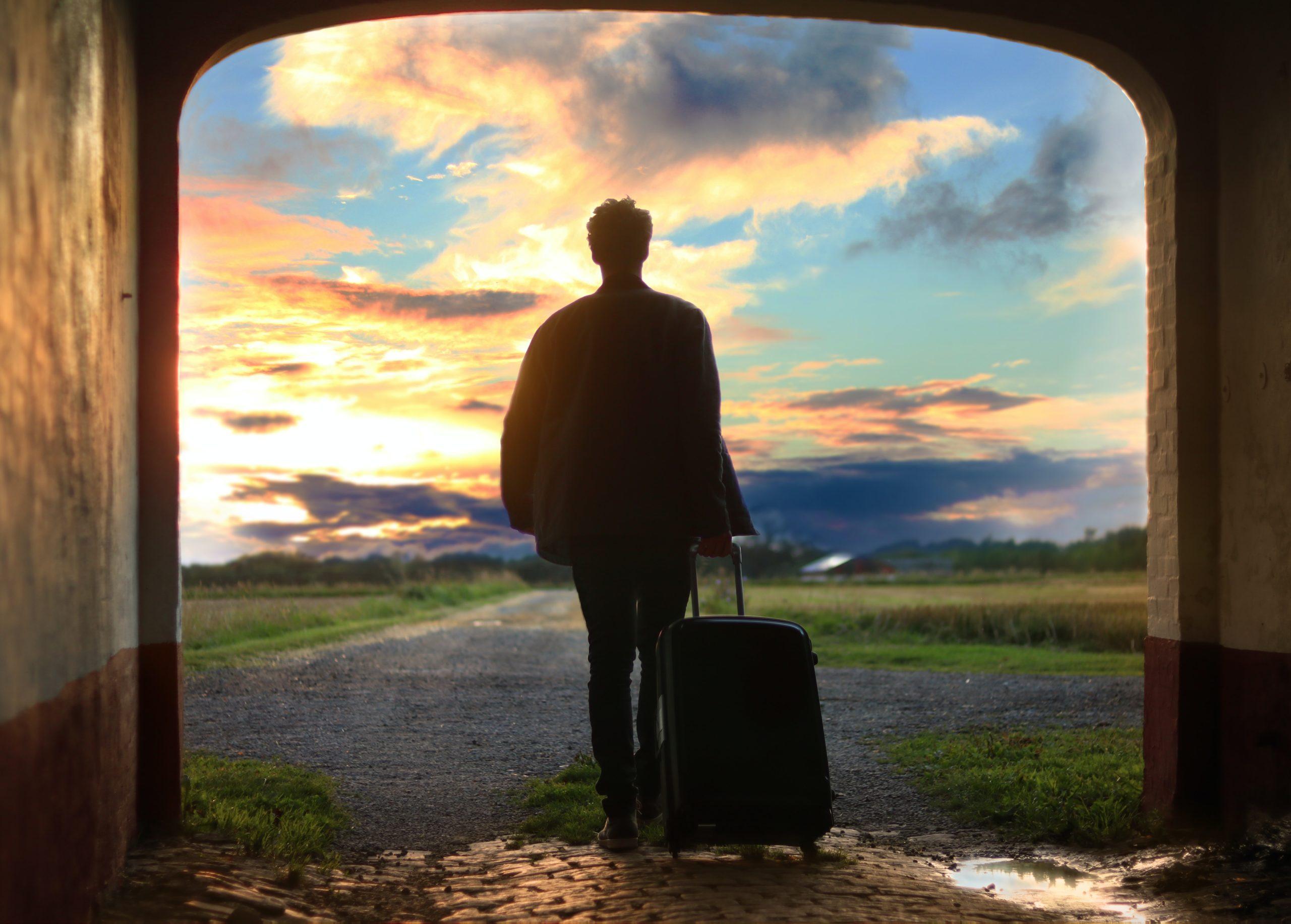 Peace Love Om Reisen ist kein Urlaub Koffer