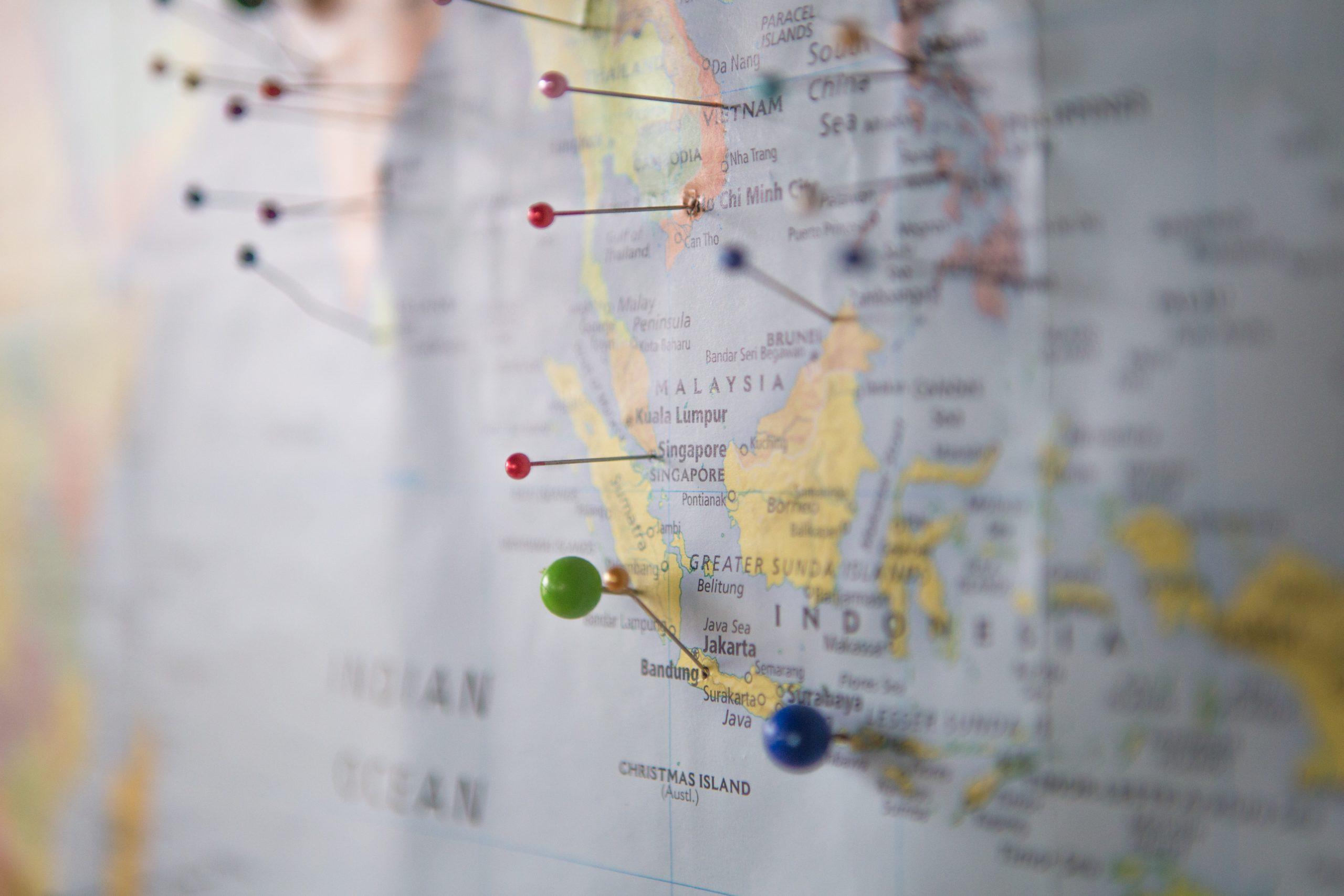 Peace Love Om Landkarte