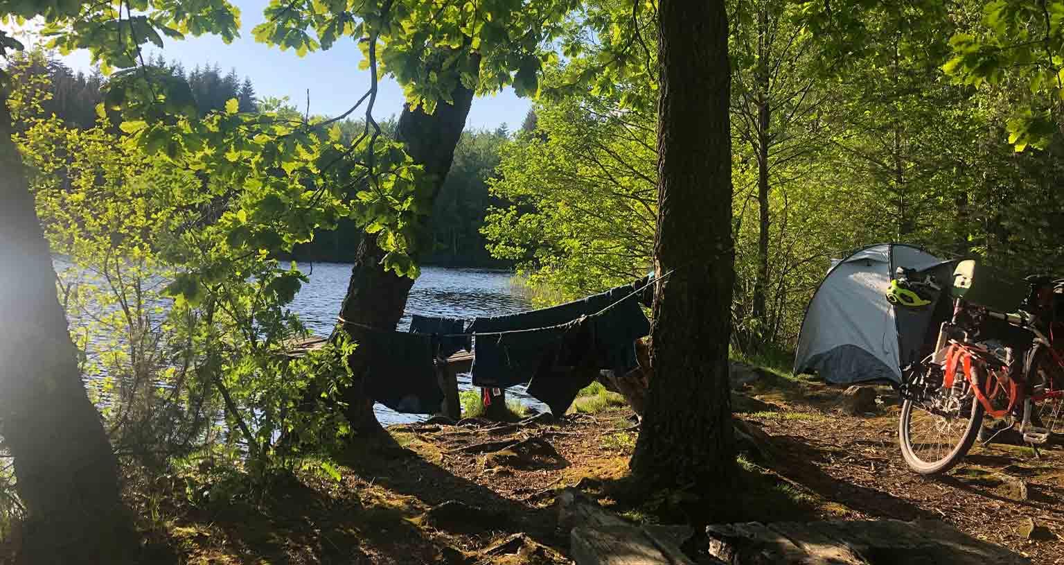 Peace Love Om Timo radelt ans Nordkap Camping