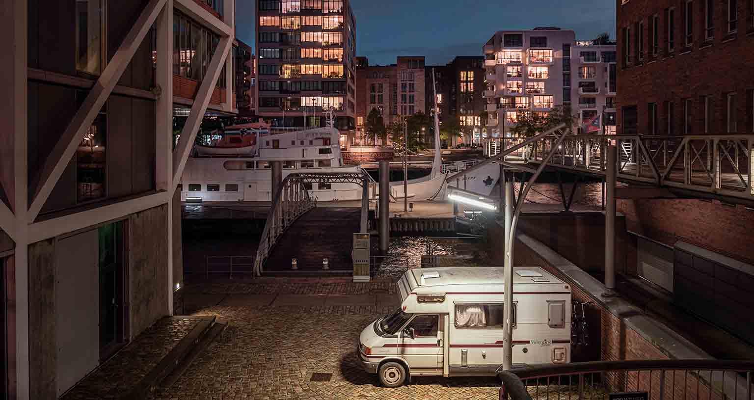 Stellplätze finden ohne Apps Stadt Hamburg